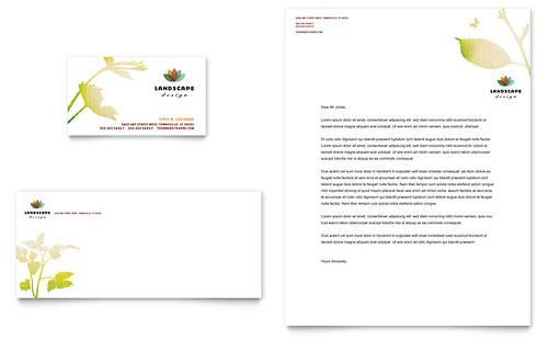 Landscape Design Business Card & Letterhead Template