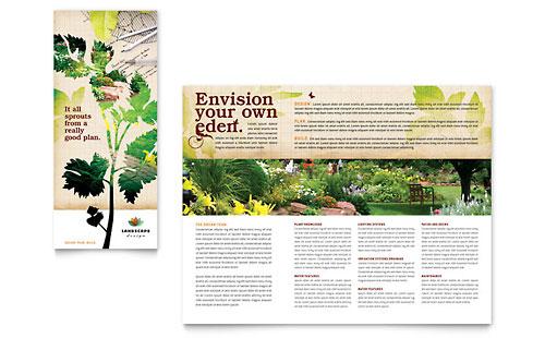 Landscape Design Tri Fold Brochure Template