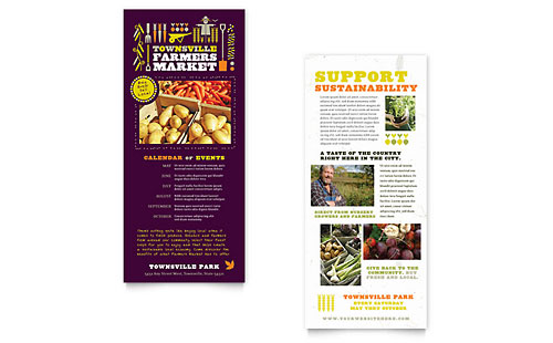 Farmers Market Rack Card Template