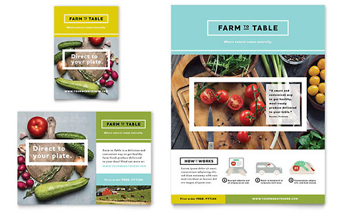 Organic Food Flyer & Ad Template