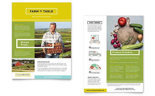 Organic Food - Datasheet Template