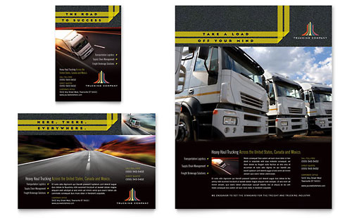 Trucking & Transport - Flyer & Ad Template