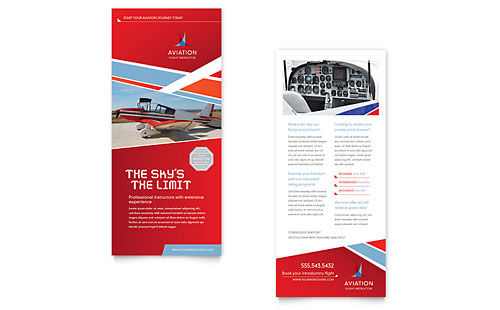 Aviation Flight Instructor - Sample Rack Card Template