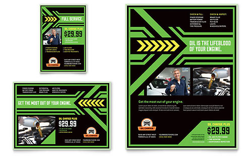 Oil Change Flyer & Ad Template