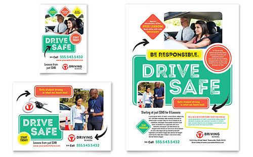 Driving School Flyer & Ad Template