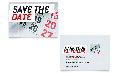 Save The Date Announcement Template