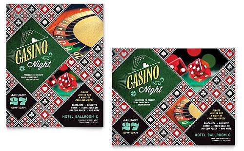 Casino Night Poster Template