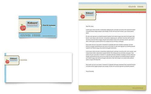 Child Development School - Business Card & Letterhead Template