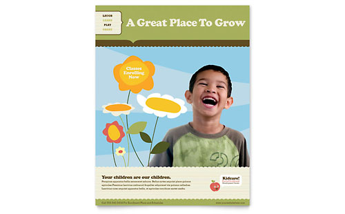 Child Development School Flyer Template