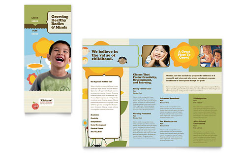 Child Development School Tri Fold Brochure Template