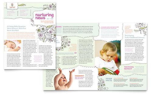 Babysitting & Daycare Newsletter Template