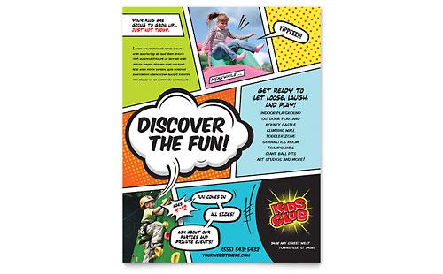 Kids Club Flyer Template