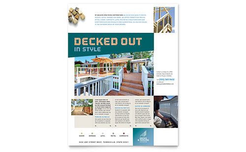 Decks & Fencing Flyer Template