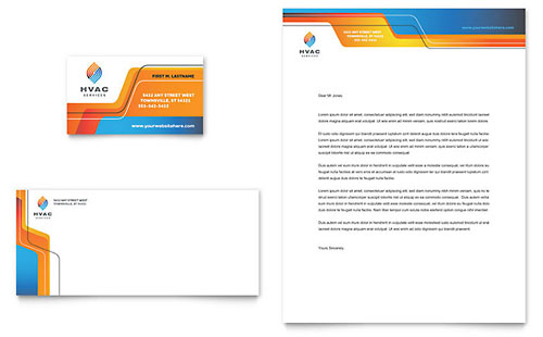 HVAC Business Card & Letterhead Template