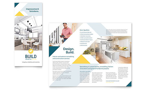Contractor Print Design Brochure Template