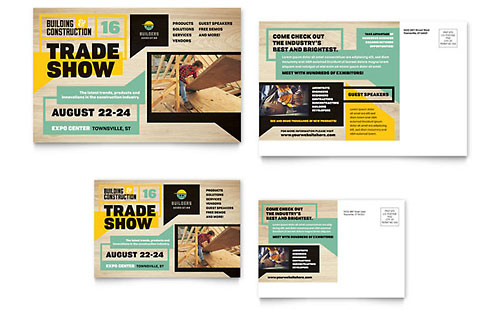 Builder's Trade Show Postcard Template