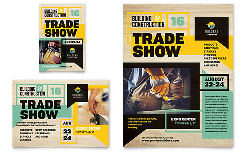 Builders Trade Show Flyer & Ad Template