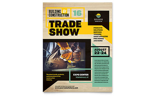 Builder's Trade Show Flyer Template