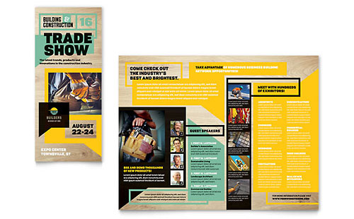 Builders Trade Show Tri Fold Brochure Template