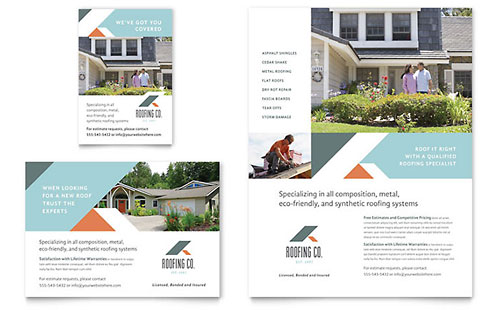 Roofing Company Flyer & Ad Template