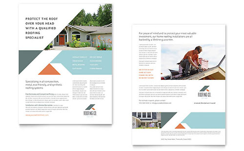 Roofing Company Sales Sheet Template