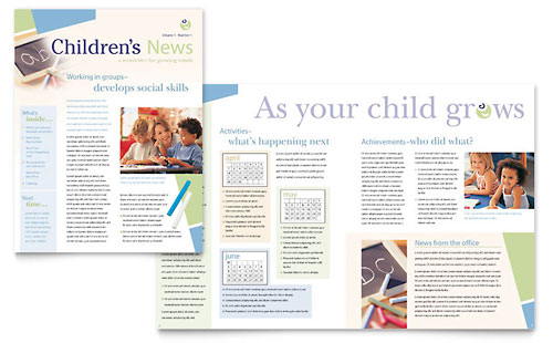 Child Care & Preschool Newsletter Template