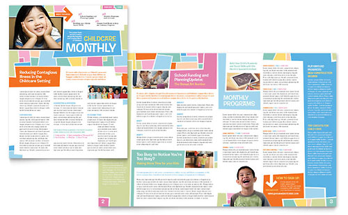 Preschool Kids & Day Care Newsletter Template