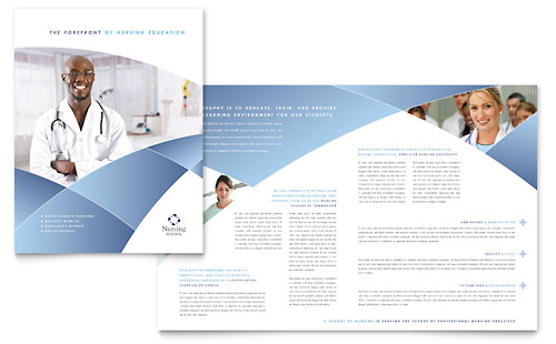 Nursing School Hospital Brochure Template