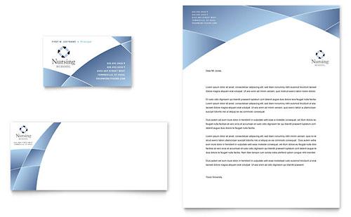 Nursing School Hospital Business Card & Letterhead Template