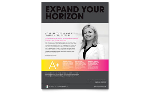 Adult Education & Business School Flyer Template