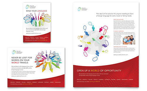 Language Learning Flyer & Ad Template