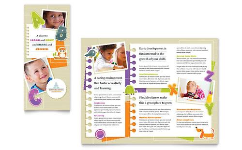 Kindergarten - Tri Fold Brochure Template