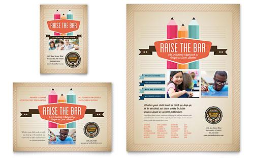 Tutoring School Flyer & Ad Template