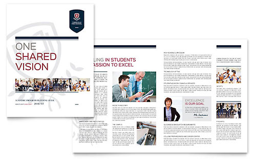 High School Brochure Template