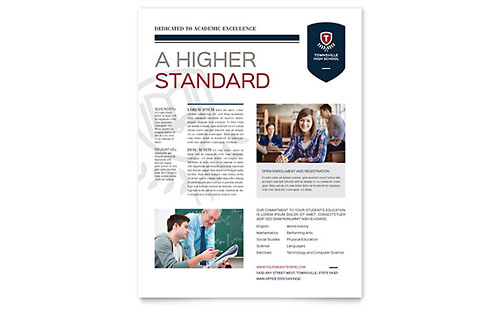 High School - Flyer Template