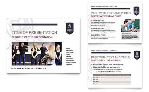 High School PowerPoint Presentation Template