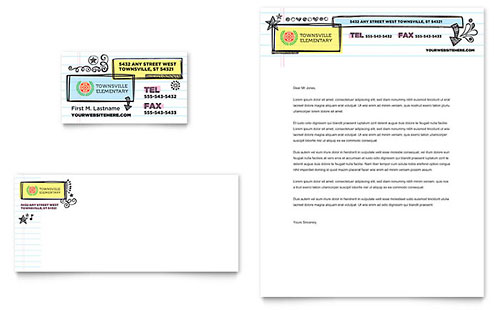 Elementary School Stationery Template