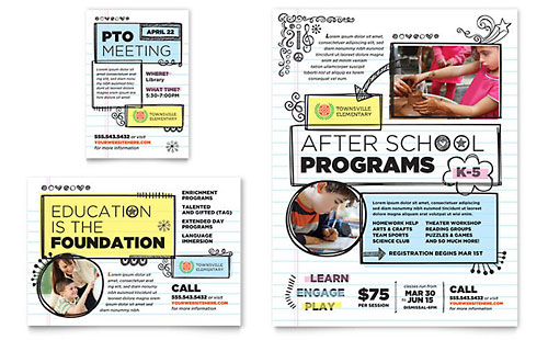 Elementary School Flyer & Ad Template