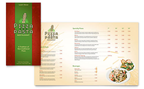 Italian Pasta Restaurant Take-out Brochure Template