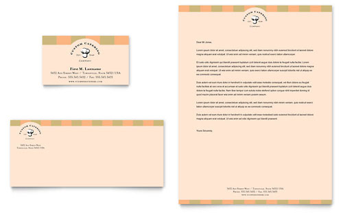 Catering Company Business Card & Letterhead Template