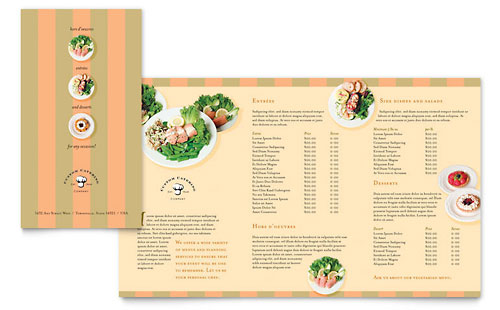 Catering Company Take-out Brochure Template