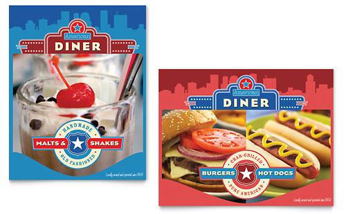 American Diner Restaurant Poster Template