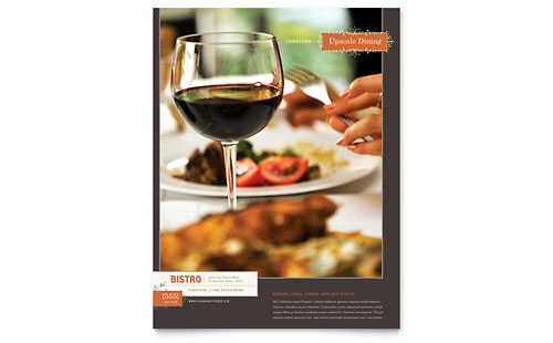 Bistro Bar Flyer Templates – Bar Flyer Template