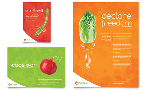 Nutritionist & Dietitian Flyer & Ad Template