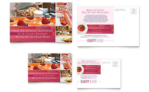 Corporate Event Planner & Caterer Postcard Template