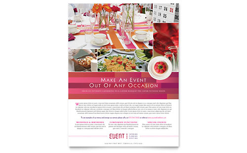 Corporate Event Planner & Caterer Flyer Template