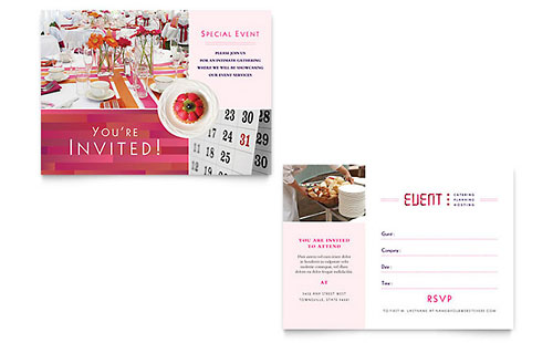 Corporate Event Planner & Caterer Invitation Template