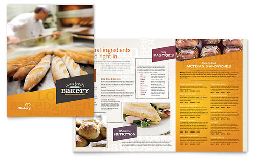 Artisan Bakery Menu Template