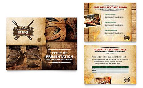 Steakhouse BBQ Restaurant PowerPoint Template