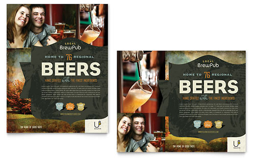 Brewery & Brew Pub Poster Template